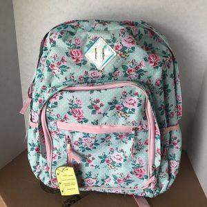 No Boundaries girl backpacks pink roses